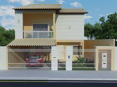 Construindo minha casa clean projeto da minha fachada com muros e - Plantas E Fachadas On Pinterest Google Quartos And