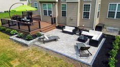 Premier Outdoor Living's gallery of unique decks, patios, and landscape designs! Backyard Patio Designs, Backyard Landscaping, Patio Ideas, Landscaping Design, Pergola Ideas, Yard Ideas, Layout Design, Backyard Renovations, Small Backyard Patio