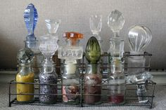 victorian rustic apothecary | How to make a spruced up spice rack: Buy spice jars, ... | Jars of Th ...