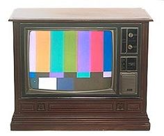 "Show your kids this... this is what TV's used to look like at 1am. (But the ""Star Spangled Banner"" was usually played at the end of the broadcast day before the test pattern was run.)"