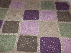 Nytt heklet vognteppe - babyteppe Drops Lima, Quilts, Blanket, Crochet, Blankets, Patch Quilt, Kilts, Knit Crochet, Log Cabin Quilts