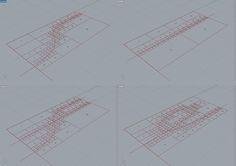 la regola di divisione prevede di suddividere ogni quadrilatero attraversato dalla curva in quattro nodi figli. il processo viene poi iterato - esperimento quadtree 1