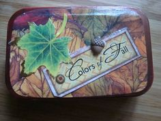 FALL COLORS  Altered Altoid Tin by victoriacharlotte on Etsy, $6.00