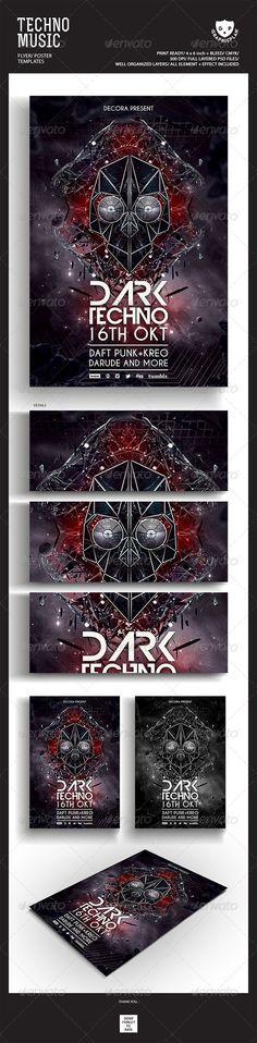 Techno Music Flyer/Poster - GraphicRiver Item for Sale