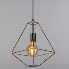 Lámpara colgante FRAME A cobre #interiorismo #decoracion #iluminacion
