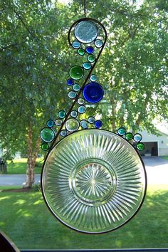 Stained Glass Suncatcher  Upcycle Glass by sawtoothstainedglass