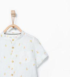 ZARA - BARN - Mönstrad skjorta med ananas