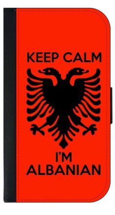 Keep Calm I'm Albanian- Flag-TM Leather-Look Apple iPhone 6, 6s Wallet Case with Closing Flip Cover and Credit Card Slots Made in the U.S.A. (Not Compatible with the iPhone 6 Plus). High Quality PU Leather and Suede Wallet Case with a Flip Cover that Closes with a Magnetic Clasp-Compatible with the Apple iPhone 6 (Not Compatible with the iPhone 6 Plus). Permanent Quality Vibrant Flat-Printed Image. No Textured or 3D Print. Quick Processing and Shipping! Ships from the U.S.A. High Level of...