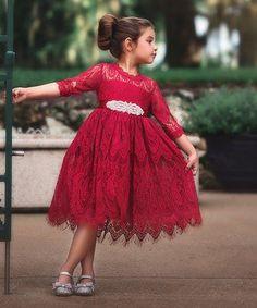 Red Lace Bella Rafaella Dress