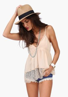 d3c808303a I have this tank  amp  fedora with some flat sandals  amp  a Betsey Johnson  · Cute Summer OutfitsClassy OutfitsPretty ...