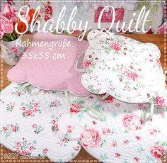 Der Stickbär | Shabby Quilt | Stickmuster mit Herz Shabby, Quilts, Embroidery, Stitching Patterns, Needlework, Comforters, Quilt Sets, Log Cabin Quilts, Drawn Thread