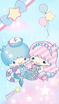 Ĥάνέ ªŊĭŒ Ðάγ — Little Twin Stars Sanrio Wallpaper, Star Wallpaper, Hello Kitty Wallpaper, Kawaii Wallpaper, Cute Wallpaper Backgrounds, Cute Wallpapers, Cellphone Wallpaper, Little Twin Stars, Little Star