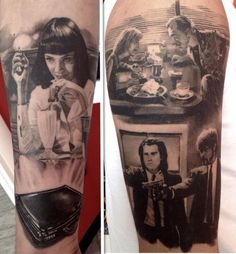 Pulp Fiction Tattoo. If you're gonna get a movie tattoo, get a classic!