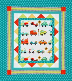 Quilts for Kids - freebie patterns. This one uses a center panel.