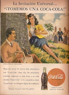 Coca Cola- Publicidad Gráfica Revista Selecciones 1944 - Guatemala