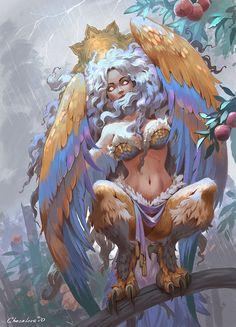 Monster Girl, Female Monster, Mythical Creatures Art, Mythological Creatures, Fantasy Creatures, Dnd Characters, Fantasy Characters, Fantasy Kunst, Fantasy Art