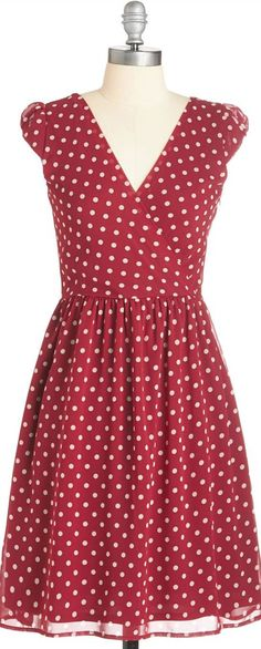 I want this. Red, polka dots, and this is the exact shape I enjoy wearing.
