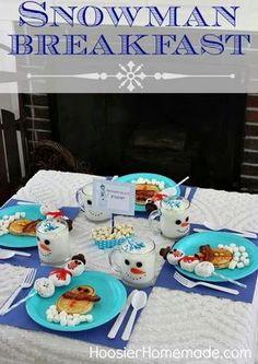 Snowman Breakfast Fun