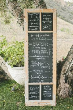#Menu | #Chalkboard | Onelove Photography | #SMP Weddings: http://www.stylemepretty.com/2013/12/04/travel-themed-wedding-at-saddlerock-ranch-from-onelove-photography/