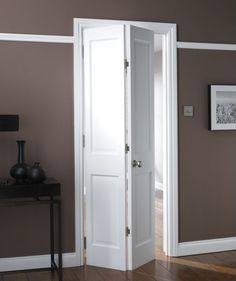 B Avesta 4 Panel Primed Bi-fold Internal Door NAT26BIAD4 White