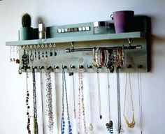 Awesome Amazing on the wall Jewelry Organizer Jewelry Holder Wall Decoration Organizer ... #amazing #awesome #decoration #holder #jewelry #organizer
