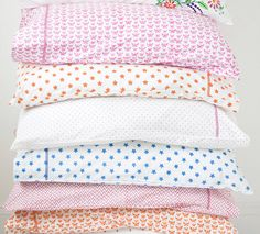 Set of Two Pink Butterfly Pillowcases