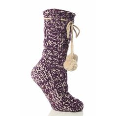 Play.com - Buy Elle Women's Chenille Cable Knit Slipper Socks (Purple) online at Play.com and read reviews. Free delivery to UK and Europe!