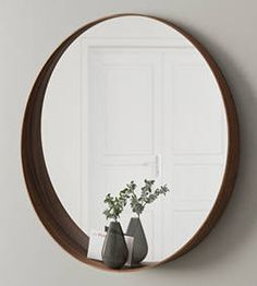 IKEA - STOCKHOLM, Mirror , Provided with safety film - reduces damage if glass is broken.The frame around the bottom of the mirror forms a shelf where you . Ikea Stockholm, Stockholm Mirror Ikea, Affordable Home Decor, Cheap Home Decor, Diy Home Decor, Smart Spiegel, Ikea Catalogue 2015, Walnut Veneer, Round Mirrors