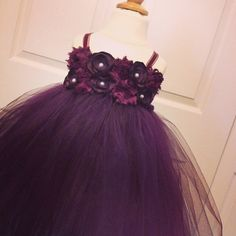 Plum flower girl dress plum shabby and silk baby dress/ This Is Going To Be Addison's Flower Girl Dress!!!!