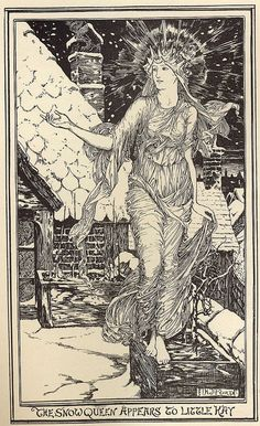 """By H.J. Ford ( Henry Justice Ford 1860-1940)  From the story """" The Snow-Queen """"  These are from The Pink Fairy Book , published in 1897"""