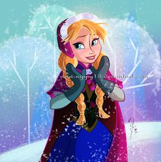 Disney - Anna by Nippy13 on deviantART