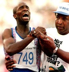 Derek Redmond - 1992 Olympics - Sometimes winning in the conventional sense isn't the victory to be obtained.