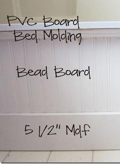use beadboard and decorative molding to update a plain builder grade bathtub