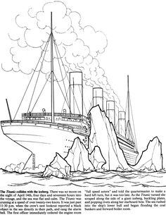 the titanic collides with the iceberg