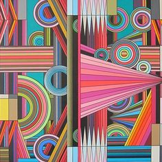 """""""Eye Candy by famous American artist and sculptor Bruce Gray is done with pen and ink and magic markers on paper. This original . Psychedelic Pattern, Psychedelic Art, Graphic Patterns, Geometric Art, Textures Patterns, Art Lessons, Art Projects, Contemporary Art, Art Photography"""