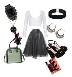 """Untitled #17"" by annie-lastihenos on Polyvore featuring WithChic, ASOS, Michele, Essie, Relaxfeel and Miu Miu"