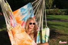 Tie&Dye XL hanging chair Bouquet [XL] - €99.00 : The Hammock and Hanging Chair Specialist, Marañon World of Hammocks