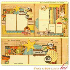 cute boy layouts