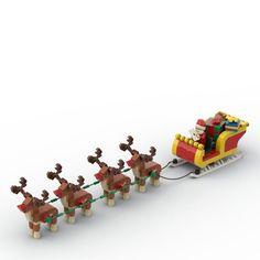 Lego Christmas Train, Amazing Lego Creations, Santa Sleigh, Lego Instructions, Lego Brick, All Sale, Legos, Bricks, Model