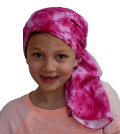 Ava Joy Children's Scarf - Cotton Candy - a Cancer, Chemo, Alopecia Pre-Tied Head Scarf, Hat, Head Cover for Children experiencing hair loss