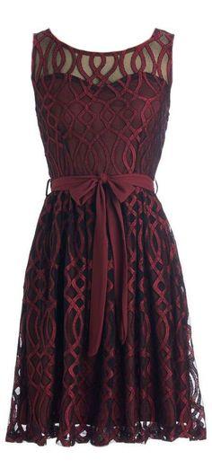 Merlot Sheer Sweetheart Dress ❤︎