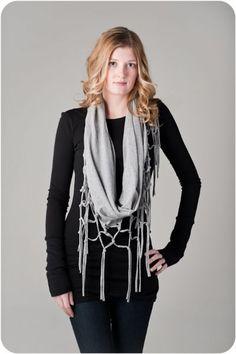 Tee shirt scarf... Like