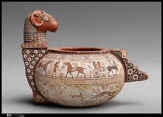 Terracotta cosmetic vase | East Greek | Archaic | 4th quarter of the 6th century B.C. The Met