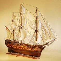 HMS Ramillies model ship starboard bow