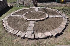 brick circle garden - Google Search