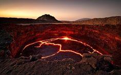 Lava. - El lago de lava del volcán Erta Ale en Etiopía.