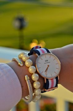 Keep it classy this summer. Get yours at www.danielwellington.com. #danielwellington #wotd #womenswatch