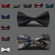 Adjustable Wedding New Fashion Tuxedo Men's Business Bow Tie Classic Necktie | eBay