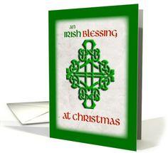 Irish Blessing at Christmas card