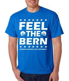 Feel the bern Bernie Sanders for president men t-shirt